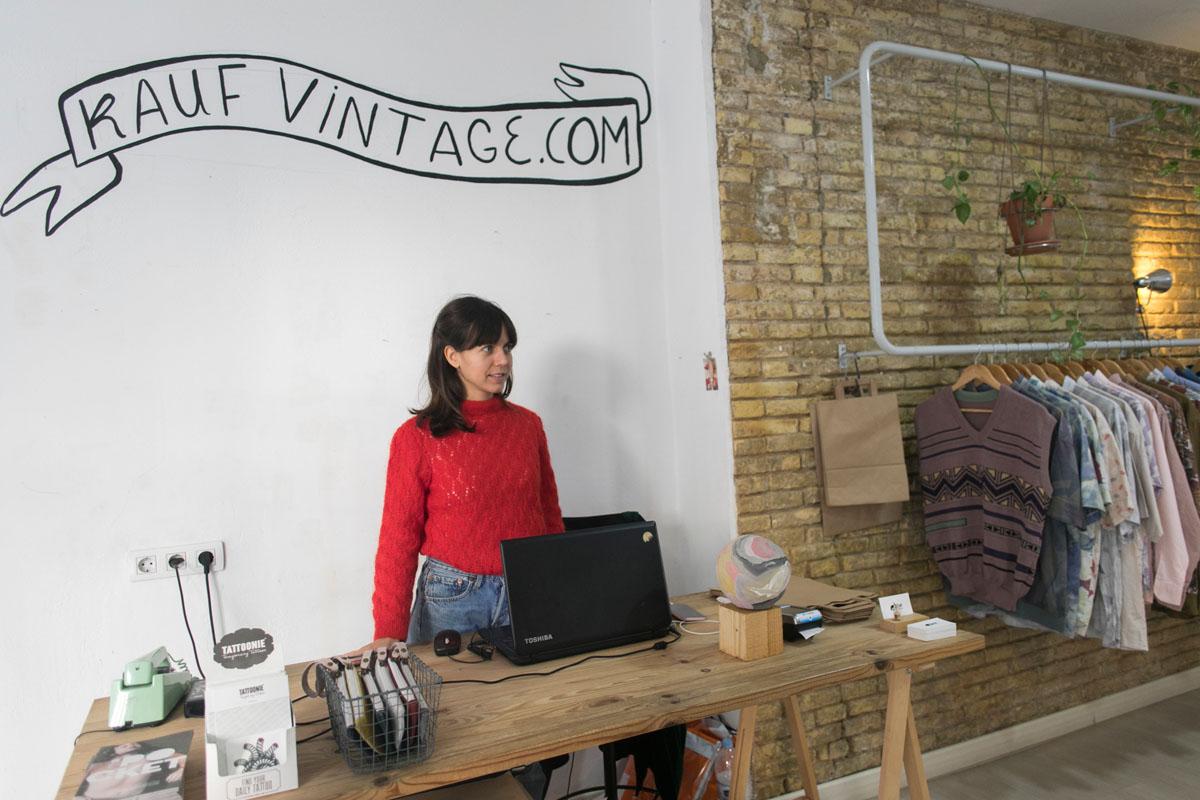 Kauf Vintage, un showroom con ropa de segunda mano