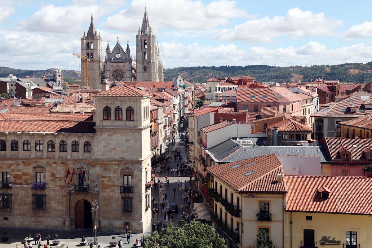 Panorámica casco histórico. Foto: Ayuntamiento de León.