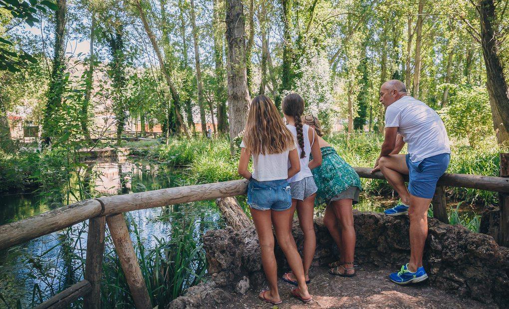 El paraje del Venero o Borbollón, el acuífero donde nace el río Huéznar.
