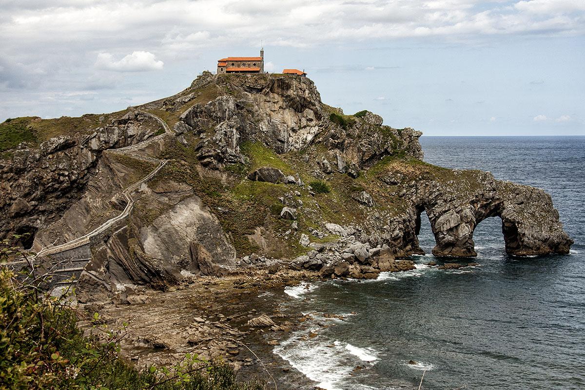 El islote de San Juan de Gaztelugatxe. Foto: Shutterstock.
