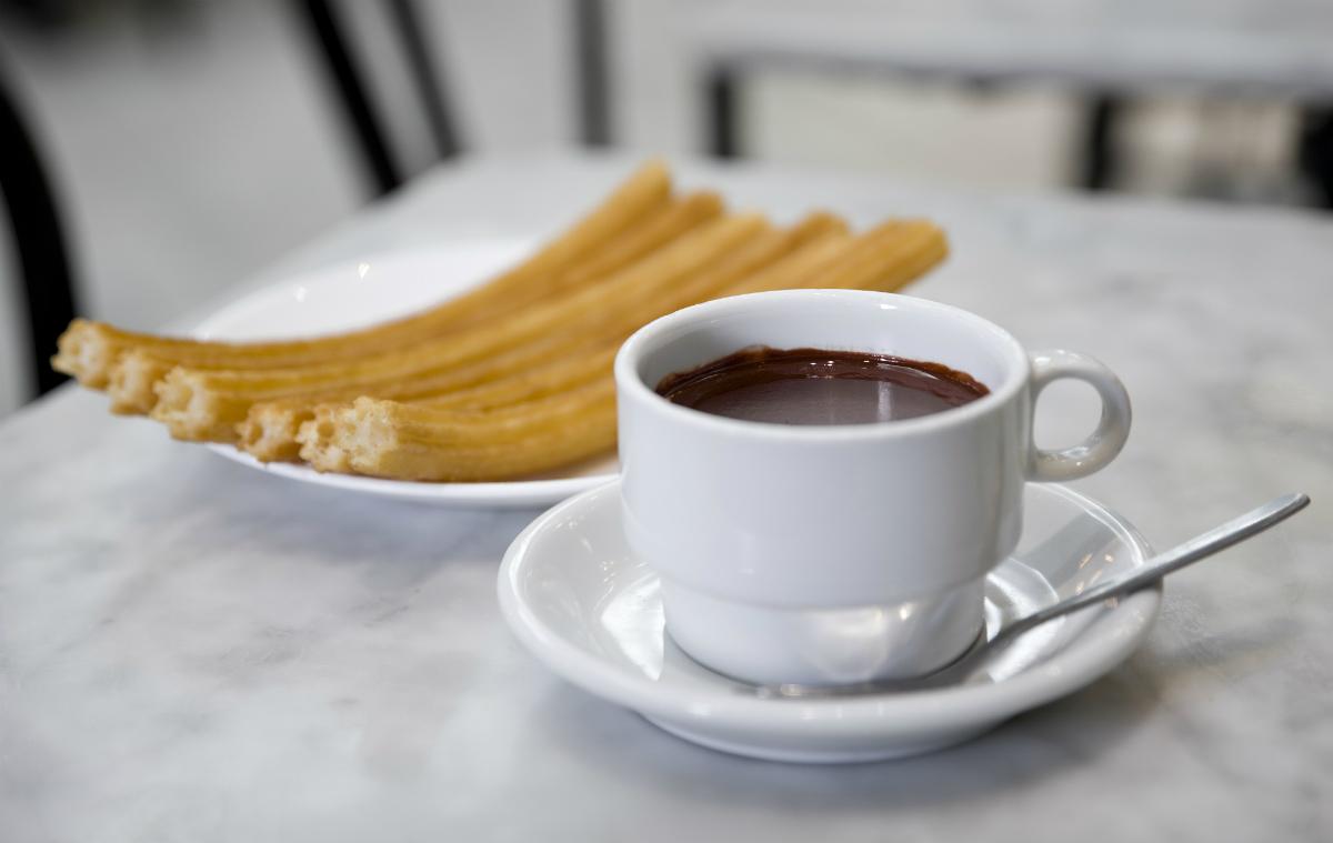 Que nunca nos falte el chocolate con churros. Foto: Chocolatería San Ginés.