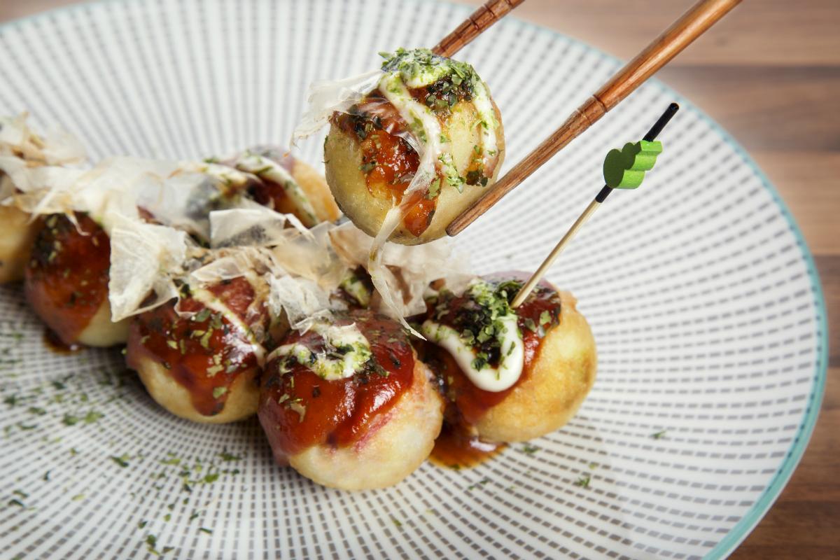 El takoyaki, un plato estrella (y ¡que se mueve!) / Foto: Okashi Sanda.