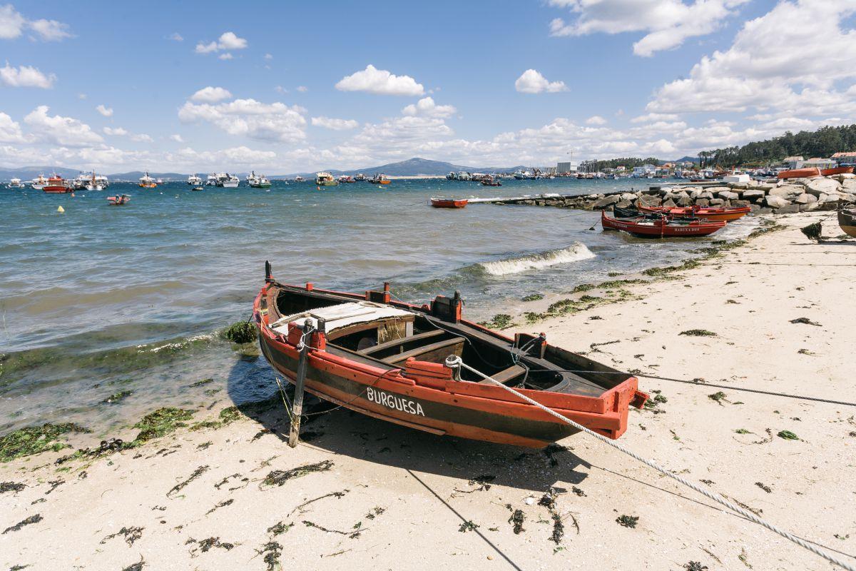 La recóndita playa de Melide, también conocida como la de Cabo Home.