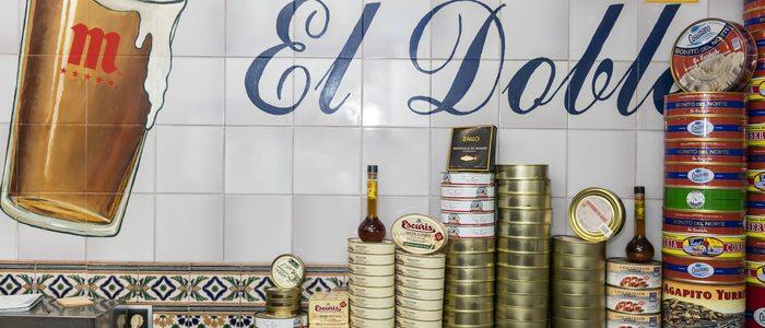 Las latas que se tapean en El Doble.