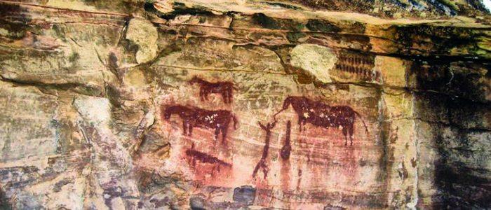 Arte rupestre en la Peña del Escritorio.