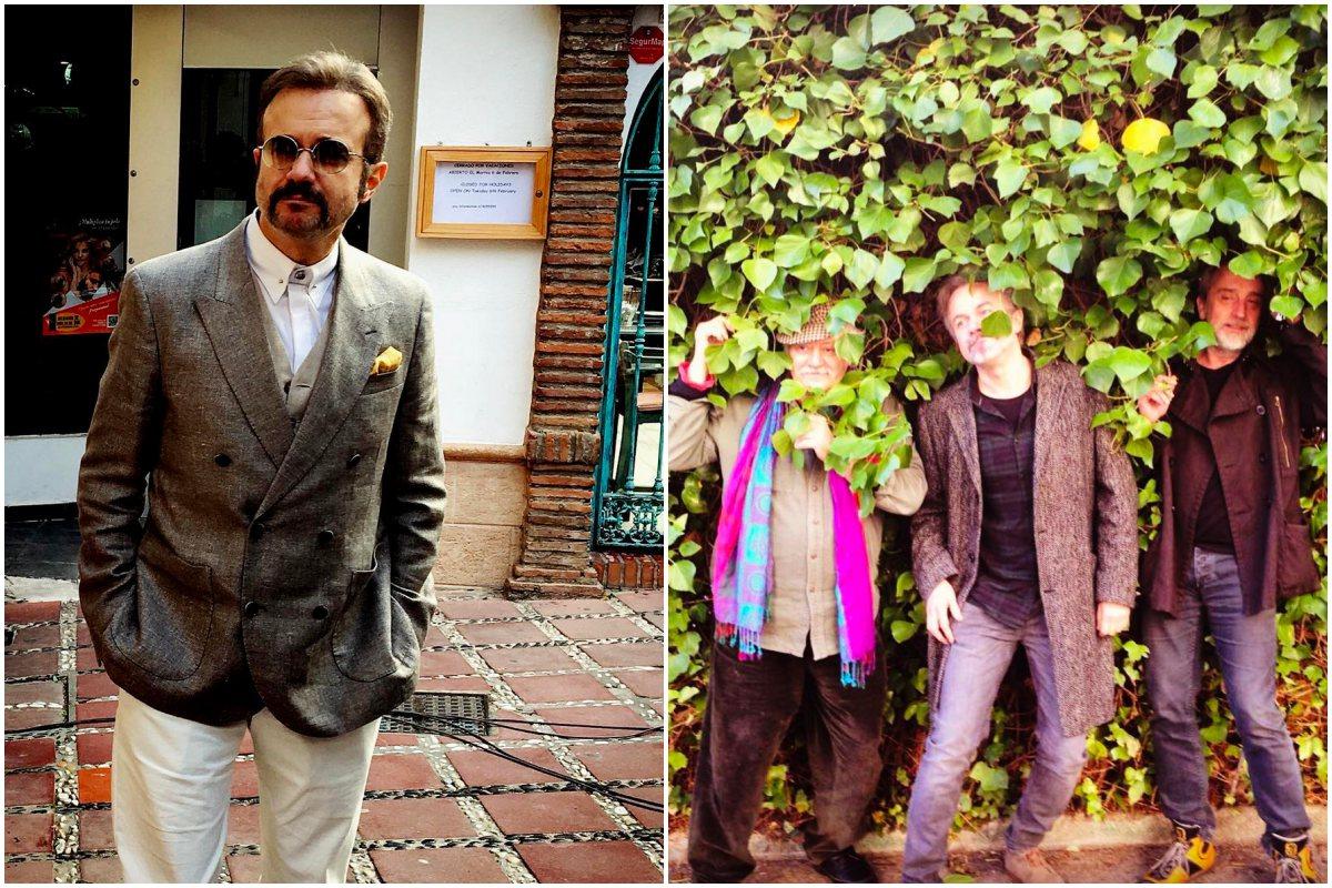 A la izquierda, el actor en el rodaje de su nuevo proyecto: Snatch.