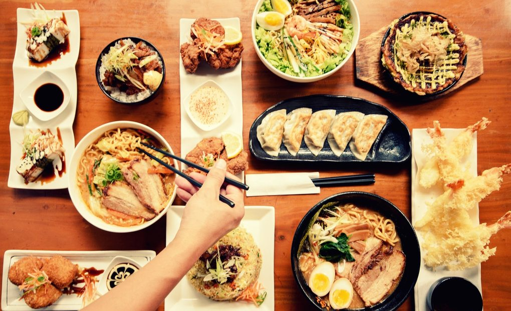 Platos de Cocina Japonesa.
