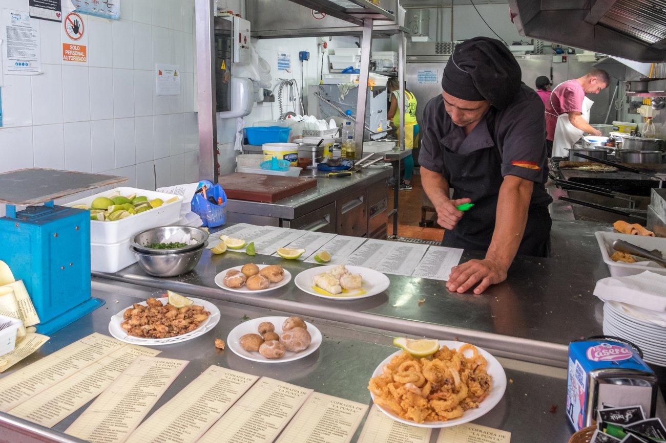 'Cofradía de pescadores' (Punta del Hidalgo): cocina