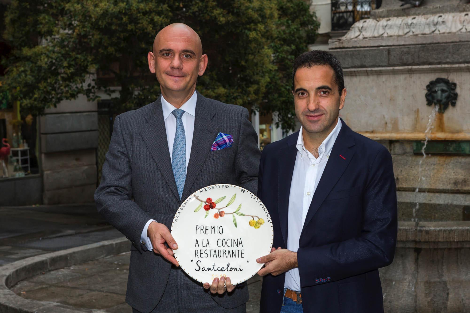 Óscar Velasco, chef de 'Santceloni' (3 Soles Repsol), se ha alzado con el Premio Restaurante 2018.
