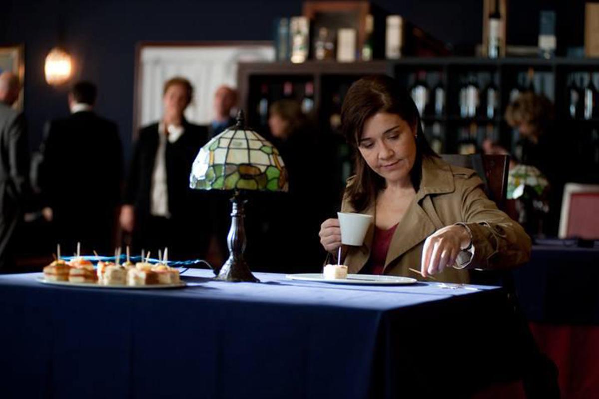 La actriz en un capítulo de la serie 'Los misterios de Laura'.