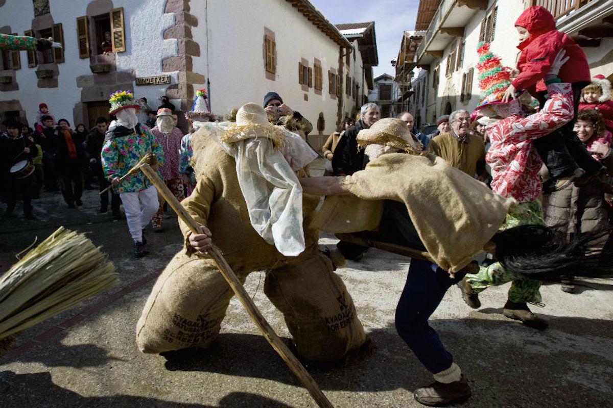 Carnavales de Lantz. magen cedida por: Turismo de Navarra.