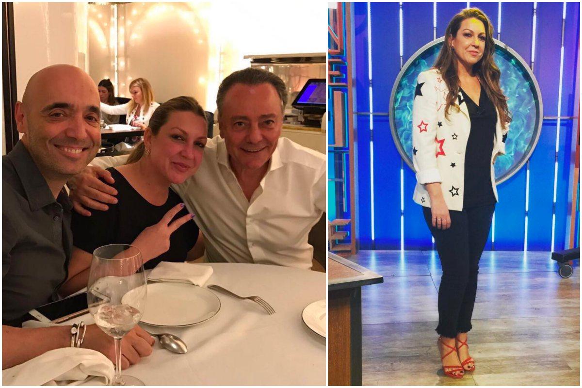 Niña Pastori con amigos en el restaurante 'Bibo', de Madrid, y en un programa de televisión.