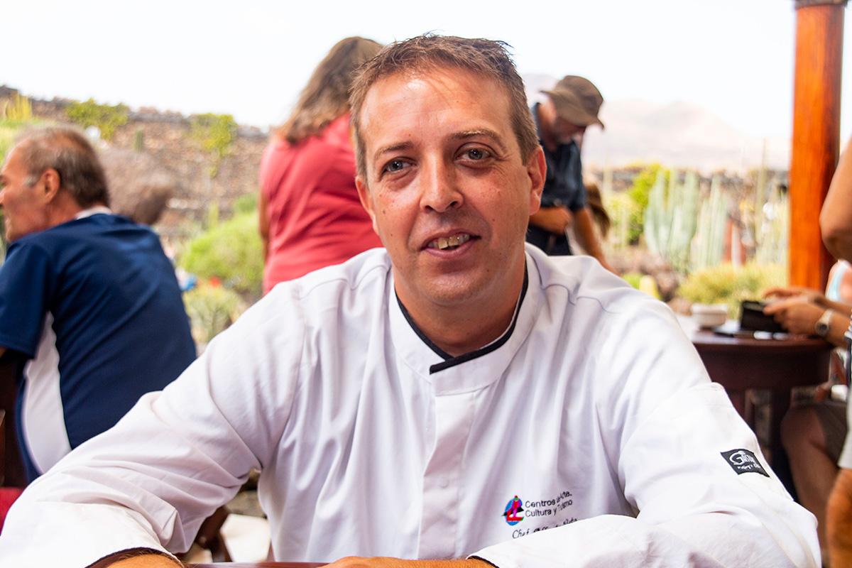 Alberto Nieto, el chef ejecutivo de los Centros de Arte Cultura y Turismo de Lanzarote.