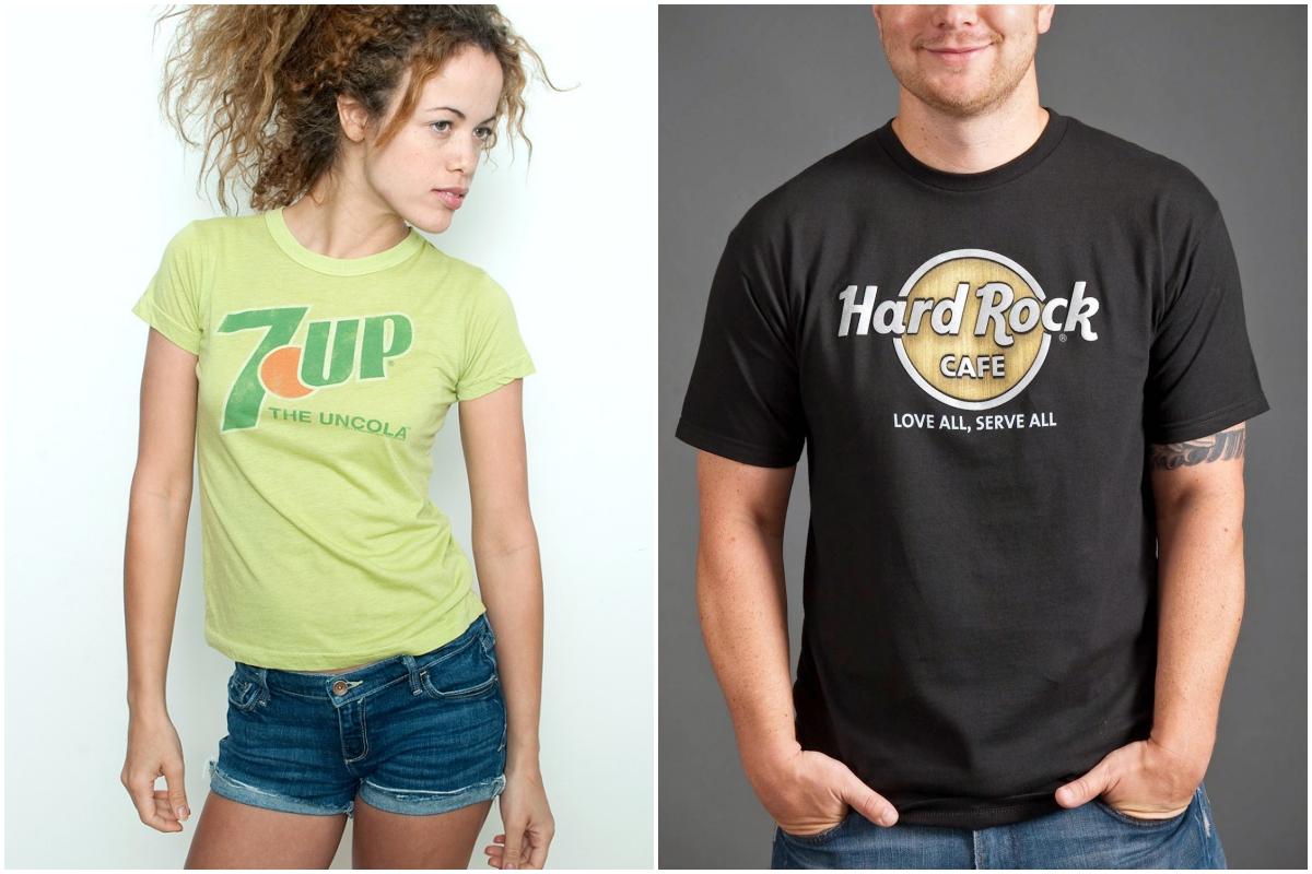 Los logos originales son siempre un éxito (Rabbit Hole y Hard Rock Café).
