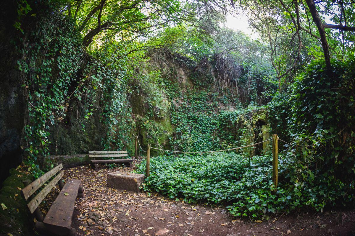 Antesala de la Cueva del Agua, de las Cuevas de Fuentes de León, en la provincia de Badajoz.