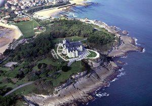 Vista aérea del palacio de la Magdalena. / Manuel Álvarez.