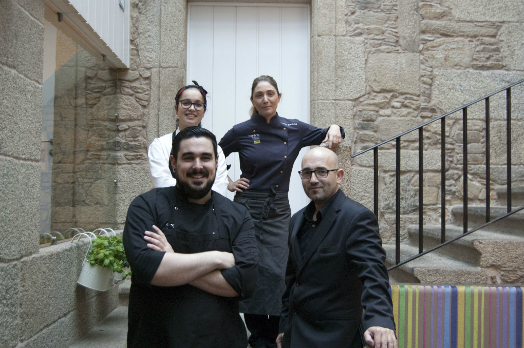 Lucía y su equipo de 'A Tafona'.