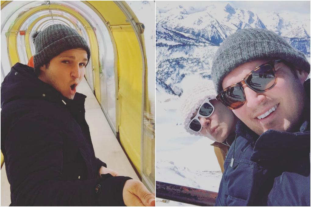Esquiando con su pareja en los Pirineos y un plato de uno de sus restaurantes favoritos, 'Silk & Soya'. Fotos: Instagram.