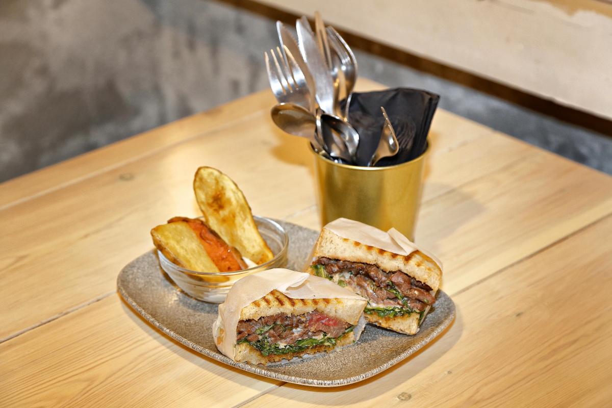 El sándwich de carrillera de 'Crumb', en Madrid.