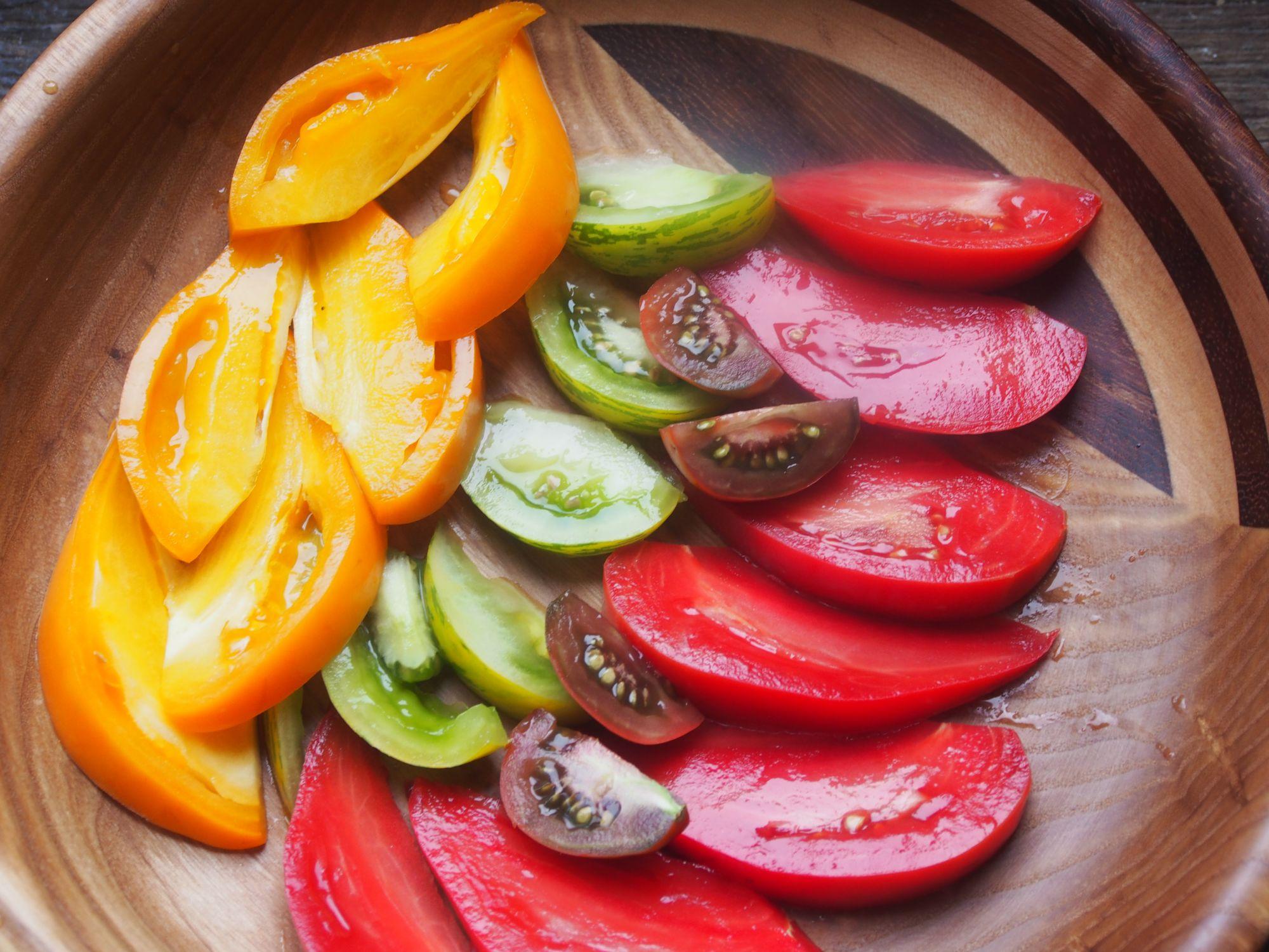 Tomates de diversos colores