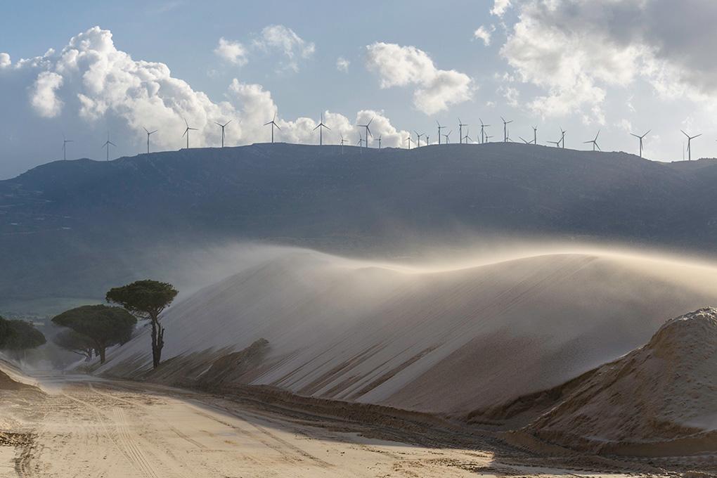 La impresionante duna de Valdevaqueros. Foto: Stefan Schmidt.