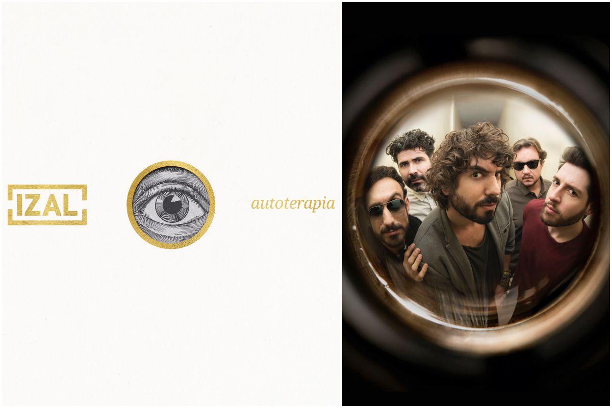 La portada del nuevo disco de Izal y foto del grupo. Foto: Jesús Romero.