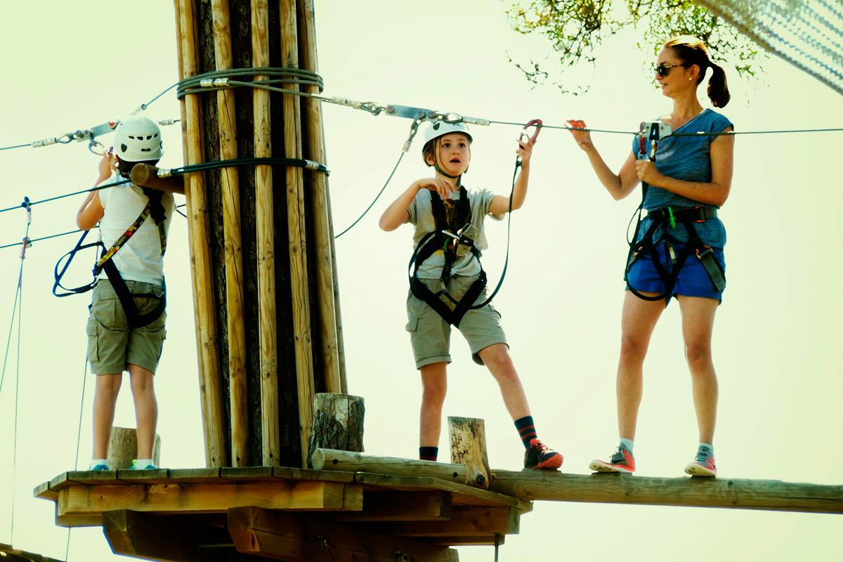 Forestal Park está ideado para aventureros de todas las edades.Foto: Forestal Park.