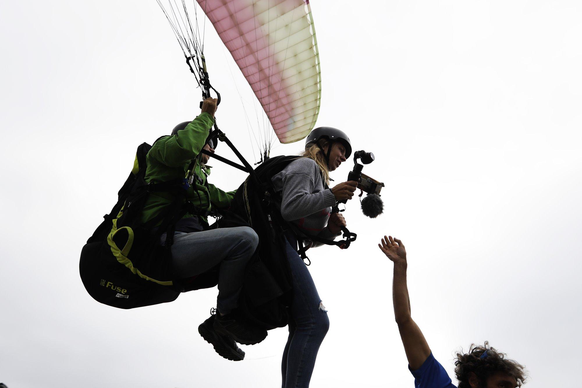 Volar con Txema Ibargüen es garantía de adrenalina.