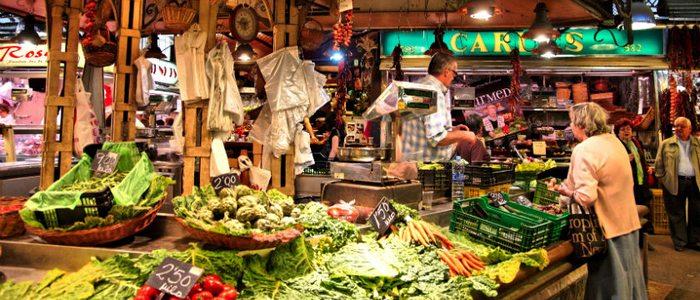 Mercado de La Boquería, Barcelona.