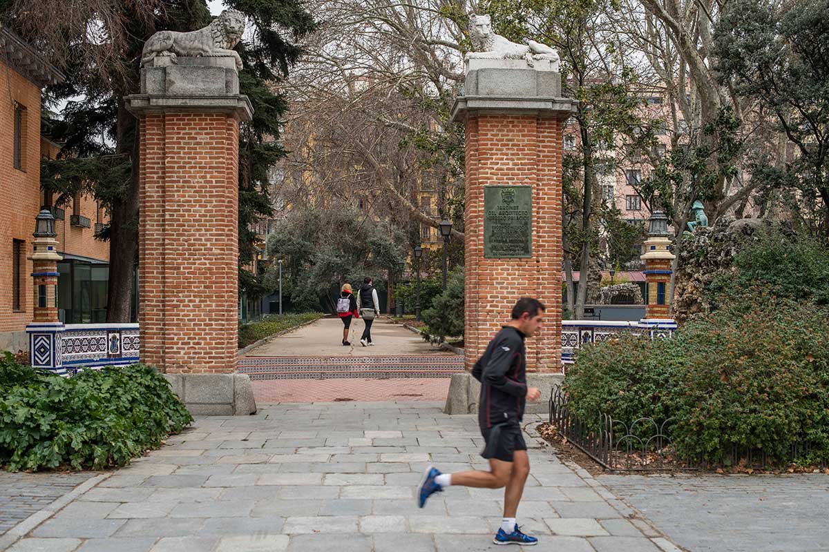 La entrada a la antigua Casa de Fieras.