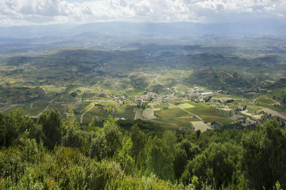 Valle en La Rioja.