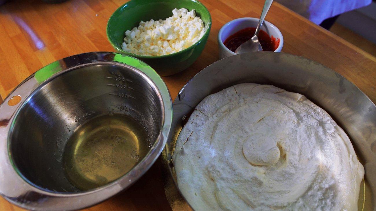 Tarta merengada de sorbete de fruta (ingredientes)