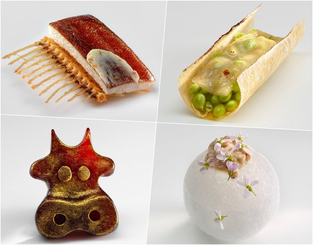 Algunas de las miniaturas gastronómicas del menú de 'Mugaritz'. Foto cedida.