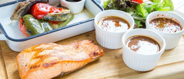 El pescado a la brasa es una buena y sana opción.