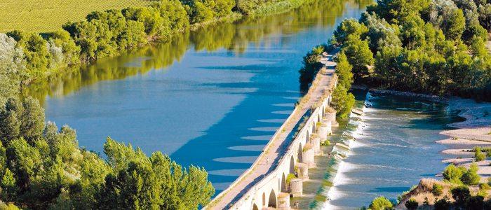 Puente romano sobre el Duero, en Toro.