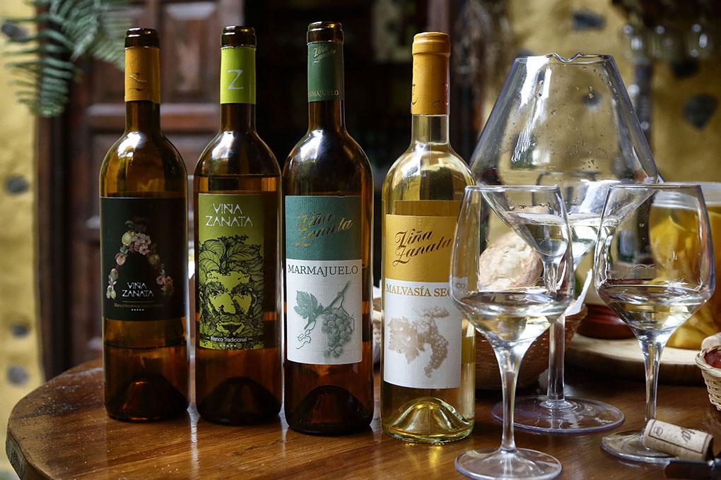 Entre los vinos de la bodega destaca el 'Vendimia Seleccionada', 'Blanco Tradicional', 'Marmajuelo' y 'Malvasía Seco'.