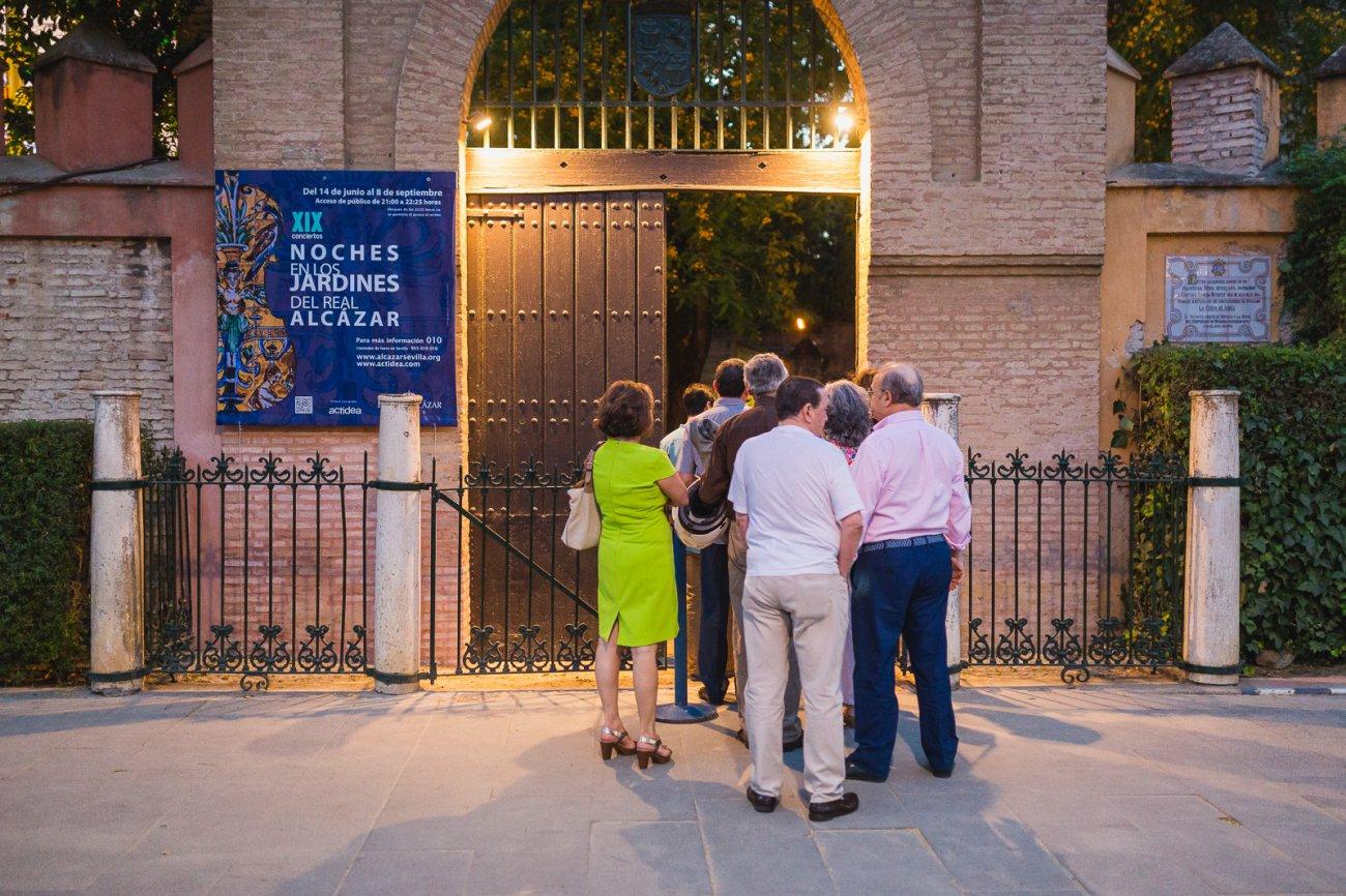 Planes Sevilla: Noches en los Jardines del Alcázar (entrada)