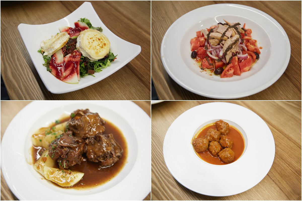 Restaurante 'Txantxangorri'. Collage de platos