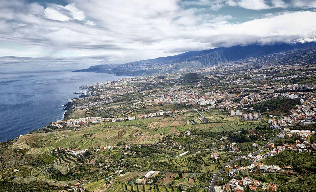 Panorámica del Valle de La Orotava, donde se cultivan las famosas 'malvasías'.