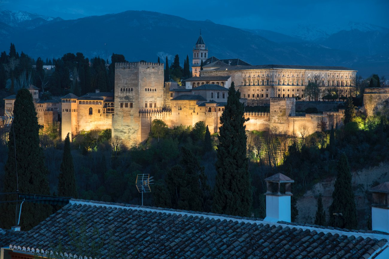 La Alhambra desde el Albaicín de noche