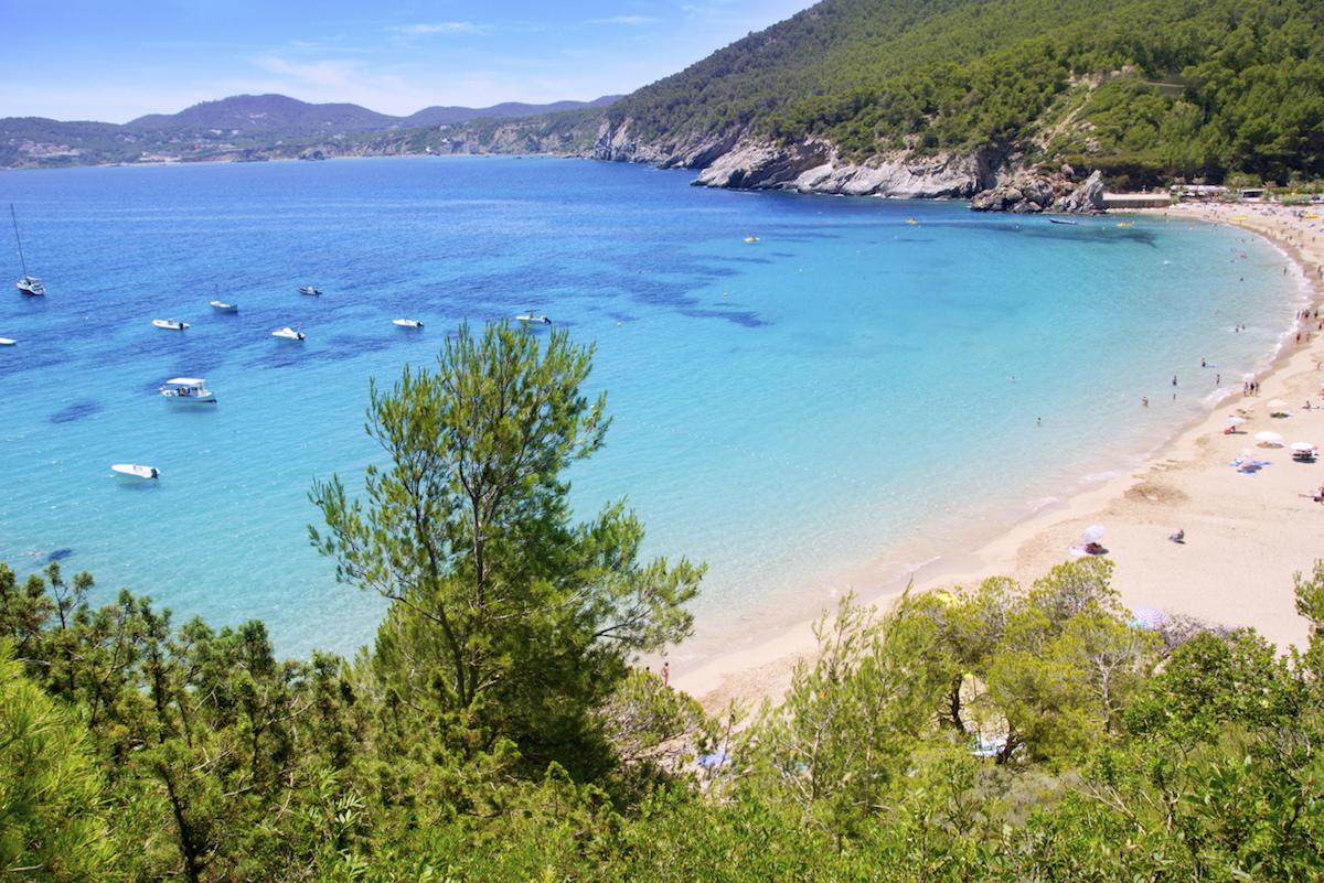 Cala en Ibiza.