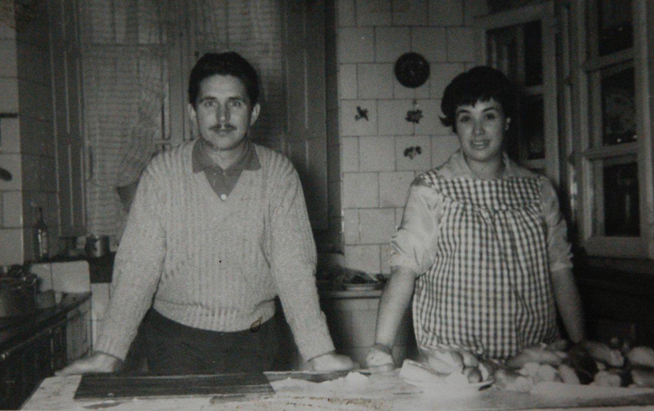 Félix Paniego y Marisa Sánchez en la cocina del 'Echaurren'