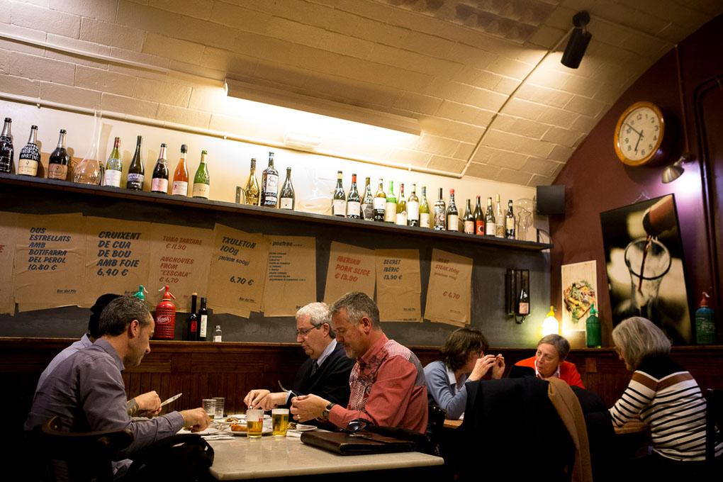 'Bar del Plá', un templo de buenos someliers.