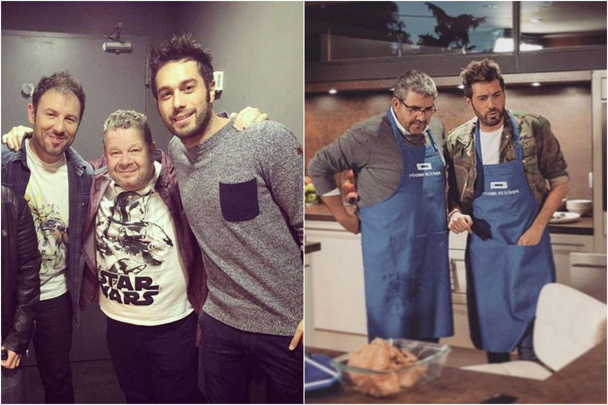 Con Chicote y Florentino, buenos amigos. Fotos: Instagram.