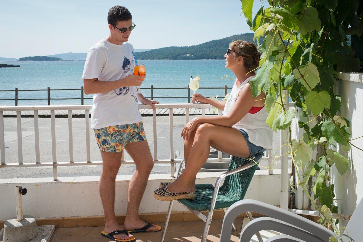Bar Troita (Playa de Boa Grande): un cóctel en la terraza