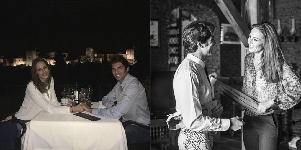 Eva González y su marido, Cayetano Rivera, frente a La Alhambra y en Ronda. Foto: Cedidas.