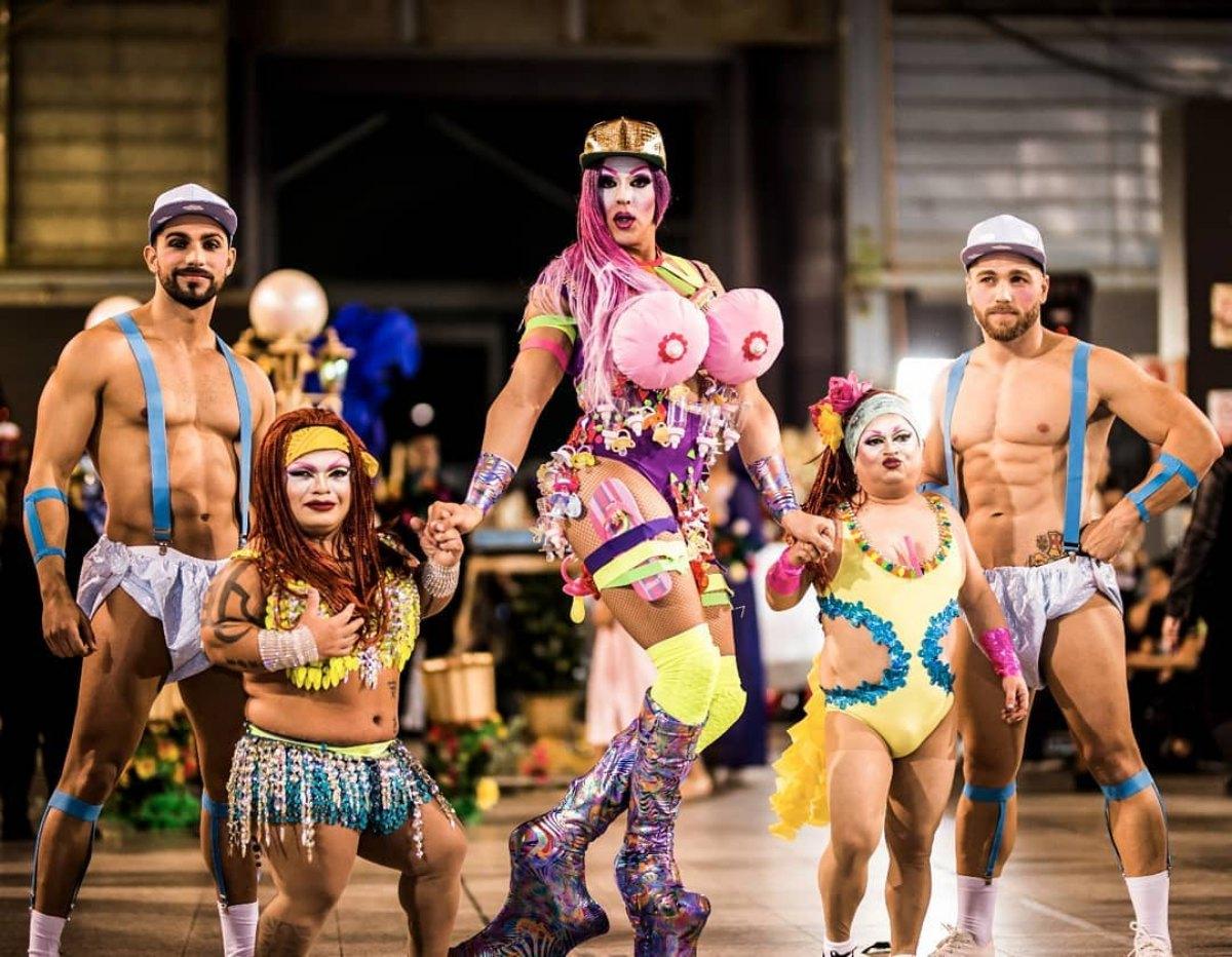 Grimassira Maeva en una de sus actuaciones. Foto: Facebook.