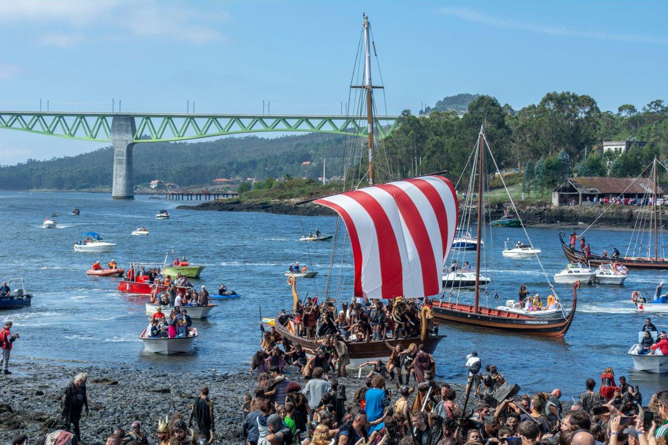 Vikingos de Catoira - Barco en la edición 2015