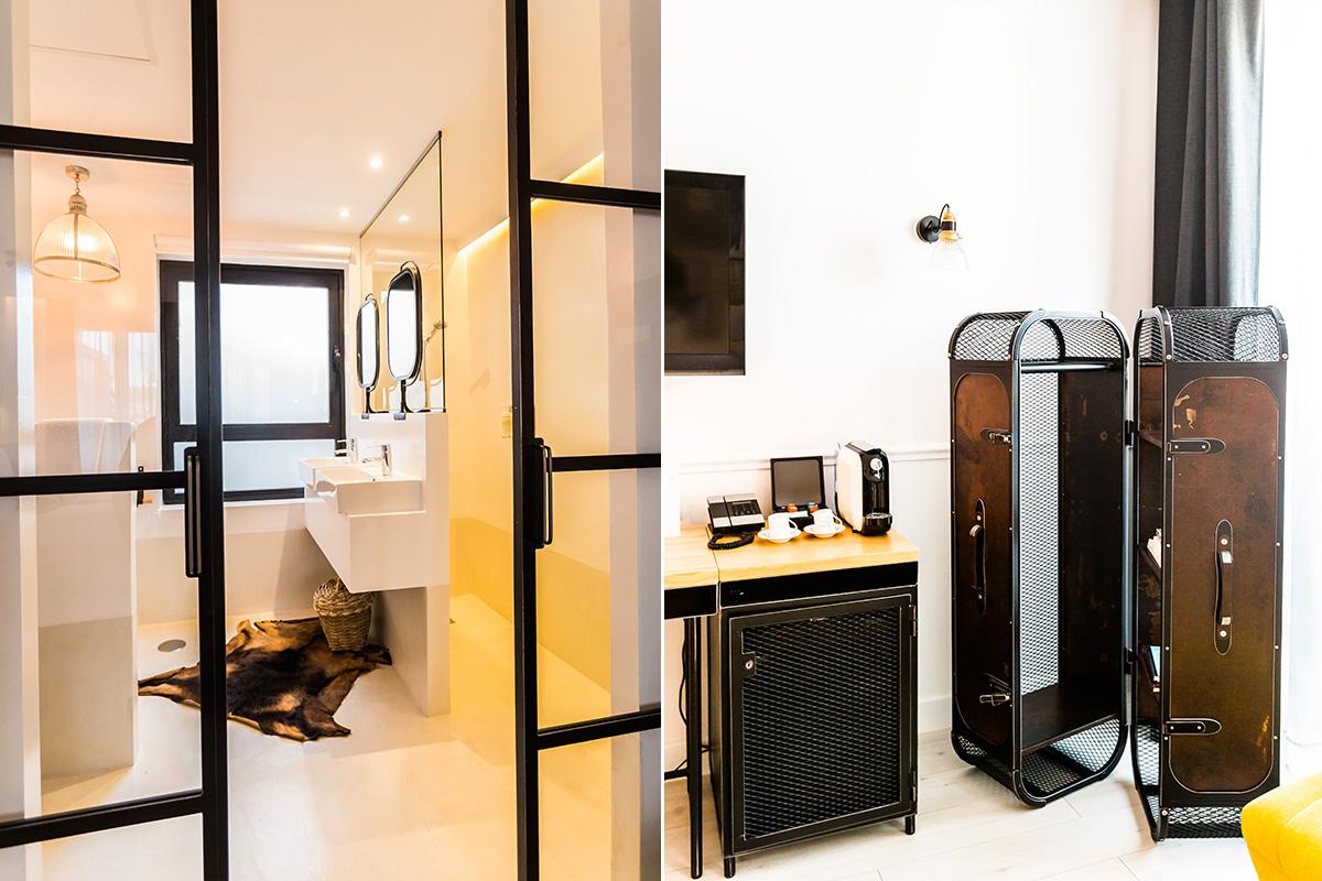 Detalles de las habitaciones que tan bien evocan viajes: este u otro.