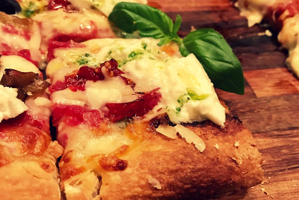 Una de las pizzas gourmet de La Balmesina. Foto: Belén Parra.